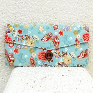 Flower butterfly red bag / pouch pocket