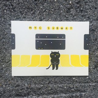 Badkitty on the NYC Subway Postcard