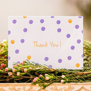Plantable Seed Paper Letterpress Thank You Card (Dots)
