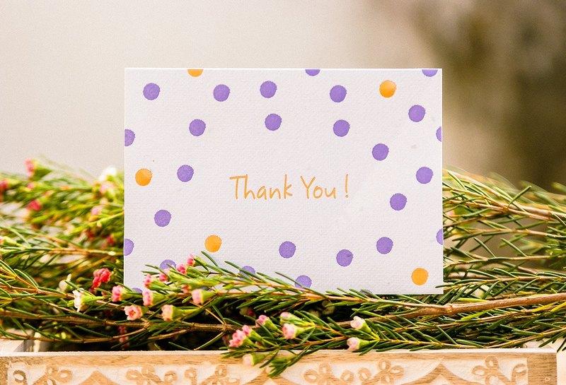 THANK YOU 種子感謝卡 (Dots) 畢業禮物/謝師禮