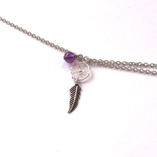 Dream catcher, Amethyst, Birthstone(February), Bracelet
