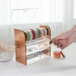 New rose gold stationery paper tape storage box