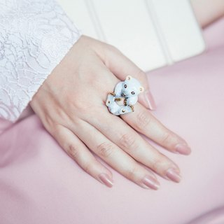 Cotton polar bear ring