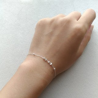 B015 Fine Number - Pure Silver Bead Bracelet