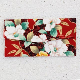 Wind peony red envelopes / pouch pocket