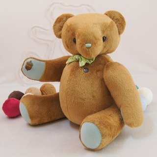 Birth weight bear pudding bear custom color and embroidered words finished caramel cashmere 47-60cm