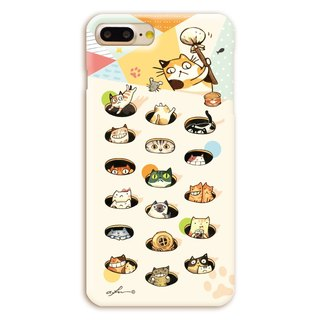(Spot) afu illustrator phone case - iPhone7Plus / 7sPlus - Meow knocking daily