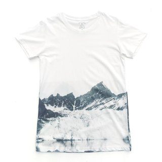 Mountain - Gradient white T-shirt