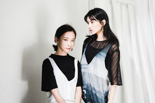 JUBY CHIU / We are slightly higher than the neck black turtleneck