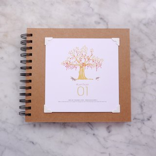 DIY hand-painted photo album set:: send a cover