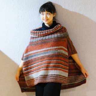 Limited hand knit national wind wool blouse shawl vest