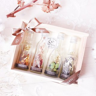 Long-lasting small flower bottle (wooden box combination) dry flower eternal flower