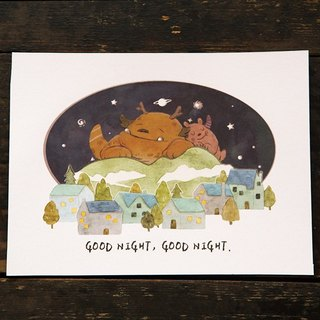 Goodnight Goodnight Temperature Sense Post Card - by Koopa