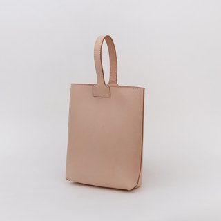 Vegetable tanned double-sided leather headdress simple tote hand-held Tote bag female handbag bag