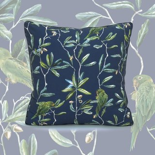 Midnight Blue Parakeet Pillowcase