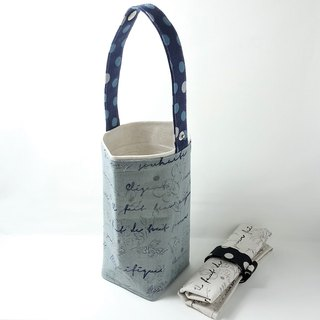 [BD/ Beverage Bag] LovelyLecre. Flower Collection England. Purple Blue