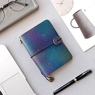 Star hand-dyed leather notebook travel account book notebook diary customized
