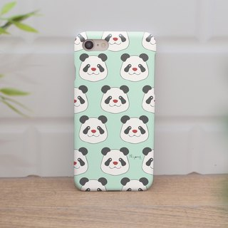 iphone case pandas on pastel green for iphone5s,6s,6s plus,7,7+, 8, 8+,iphone x