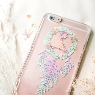 Pisces Pressed Flower Dreamcatcher Phone Case | 12 Zodiac