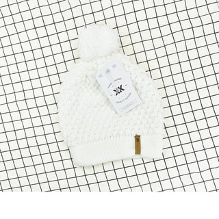 Handmade hook delicate wool hat Abby classic white spot - the United States Krochet Kids moral fashion brand counters