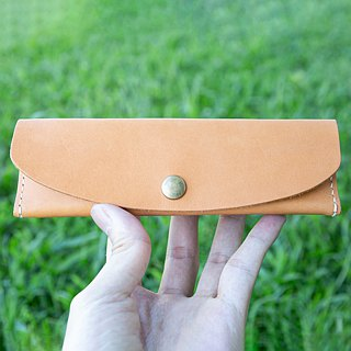 [Leather pen bag] MISTER hand made material package custom lettering