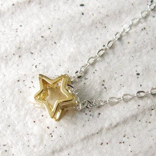 Wishlist Meteor Necklace (Gold) - 16 吋 - 925 Sterling Silver Necklace