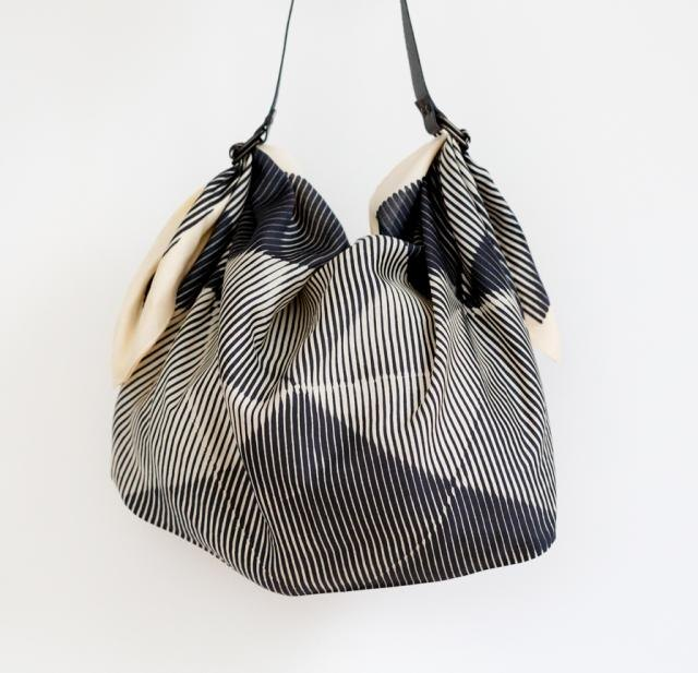 Folded Paper Black Furoshik Bag
