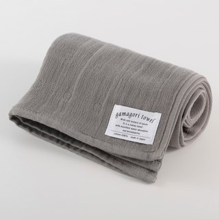 [Japan-made Gamagori] new, thin section six-fold yarn towel - Monarch Grey