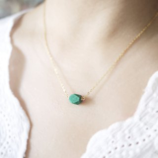Chrysocolla necklace - natural crystal necklace 18k gold plated choker