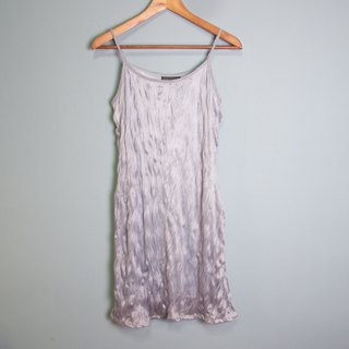 FOAK vintage silver-gray wave strap dress