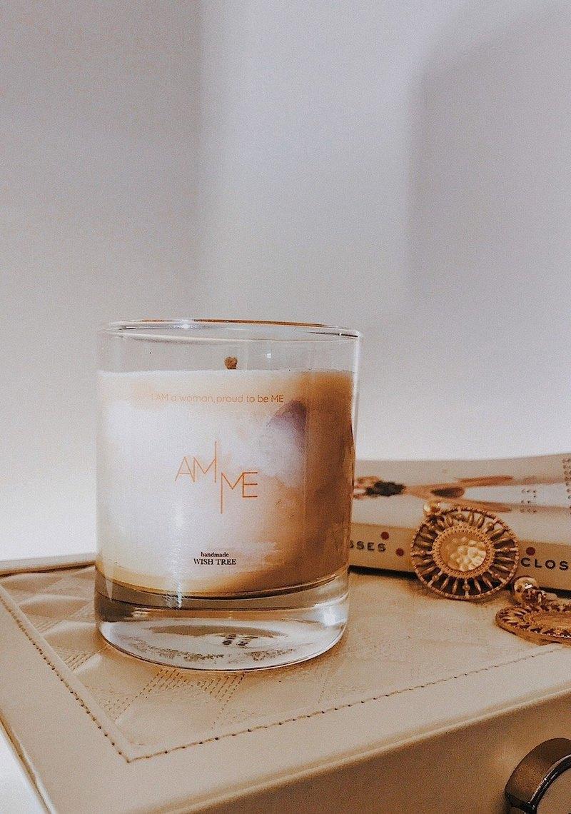 AM ME 獨家特製品牌香氛蠟燭 質感玻璃罐6oz (可燒35hr)
