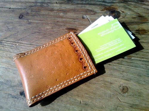 〗 〖Simple manual Pidiao card holder (Matthew saddle Pidiao)
