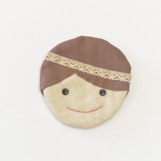 Smiling coasters - girl