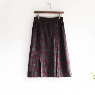 River Water Mountain - Saga Winter Flower Season Game Diary Sheepskin Antique Straight Skirt