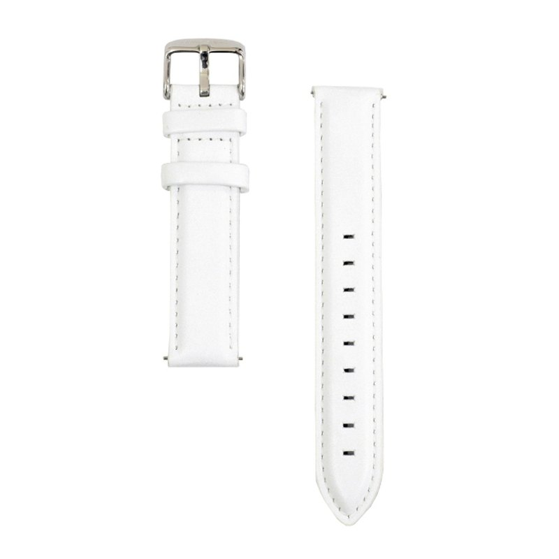 BOND STONE 20mm Genuine leather belt White(40mm case only)