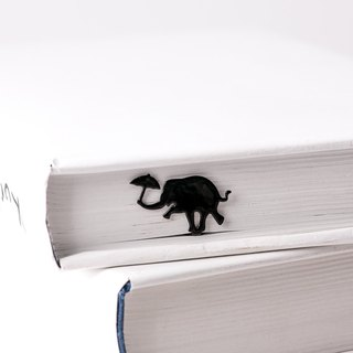 Book Bookmark Dancing elephant // unique bookmark design // Cute gift for book lover // Free shipping // metal bookmark // animal theme