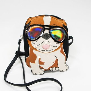 Sleepyville Critters - Cool Dad Bulldog Crossbody Bag