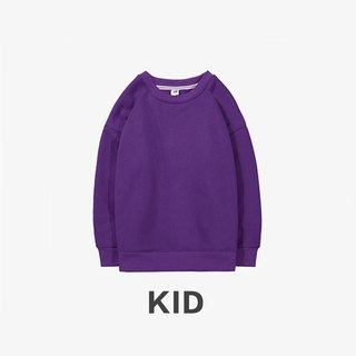 KIDS Long Sleeve Round Collar University T :: Boys and Girls Wearable:: Purple