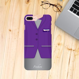 HK Express Airlines Air Hostess Fight Attendant Purple iPhone Samsung Case
