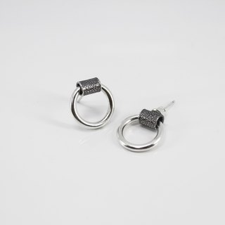 No.604 CIRCLE EARRINGS Ring Earrings - Sterling Silver