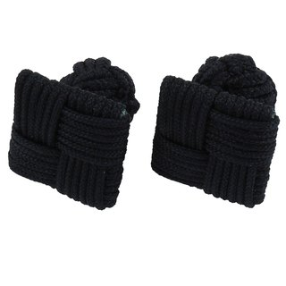 Black Square Silk Knot Cufflinks