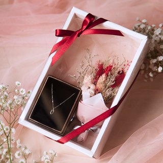 Romantic pink sterling silver jewelry bouquet gift box (limited edition)