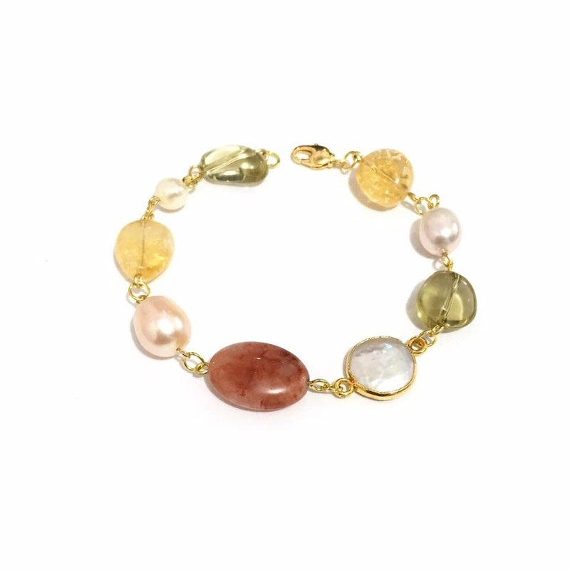 Little Elegant Bracelet with Mixed Natural Stone