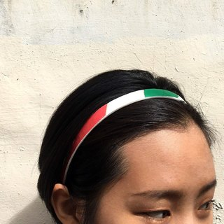 Volleyball x headband / fine / molten red and white white section number 002