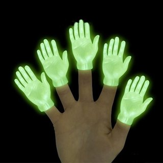 /Archie McPhee/ Limited edition luminous finger small hand 10 into the group