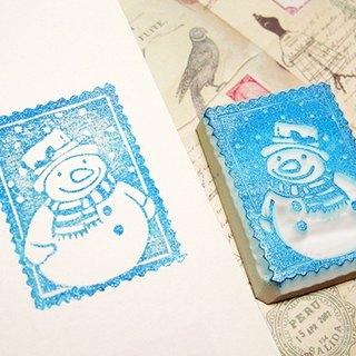 Apu handmade chapter cute snowman stamp seal Christmas applies