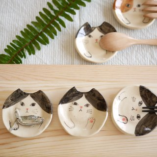 Cat chopsticks [black and white] / Cat cutlery rest [Black-and-white]