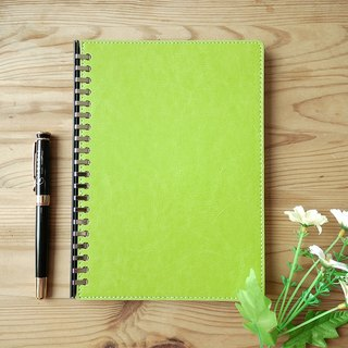 Loose leaf removable A5 notebook-Green Cover
