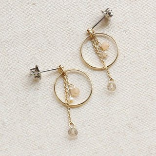 Japanese Handmade Ornaments - Crystal Drop Earrings