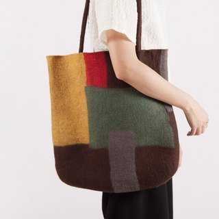 Ke people original 2017 new handmade blankets large bag single shoulder handbags large capacity pure wool Japanese art